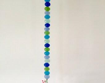 Blue and Green Window Sun Catcher, Crystal Window Prism Sun Catcher