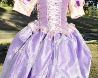 Princess Rapunzel costume, Tangled Costume Halloween costume, Disneyland trip Halloween costume, Princess Birthday dress princess dress