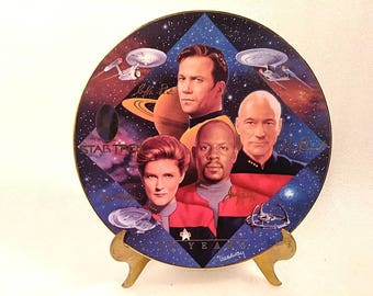 "Vintage Star Trek Wall Plate ""Captain's Tribute"" by Todd Treadway"