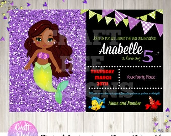 Ariel Inspired Dark Skin Princess