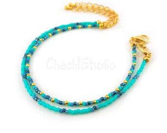Seed Bead Bracelet, Stacking Bracelet, Delicate Bracelet, Minimalist Bracelet Set, Dainty Beaded Bracelet, Friendship Bracelet, Gift for Her