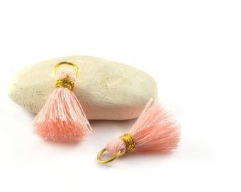 Small PomPoms 2 set of 2 cm / Rose smoke PO127 FM