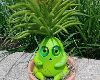 Green plant man, OOAK, plant man, succulent sculpture, plant sculpture