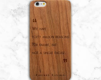 Motivational Quote Phone Case, Wood Quote iPhone X, 8 Plus, 6, SE Case, Galaxy S9, Note 8, S7 Edge, S6, S8 Plus, Gifts for Readers, Literary
