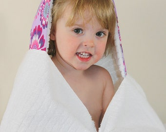 Girls Hooded Towel - Spa Gift for Girls - Gifts Under 50 Dollars - Towel Hoodie - Hooded Towel - Toddler Hooded Towel - Girls Pool Towels