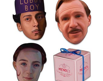 The Grand Budapest Hotel Sticker Pack