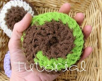 Tutorial- PDF- Nylon Net EXTRA BIG Scrubbie- Crochet