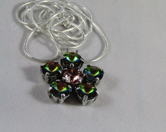 Your choice of color! 5 petal flower with 39ss Swarovski crystals