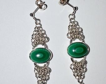 Sterling Silver, Chandelier Earrings, Silver Earrings, Earrings, made in USA, PMKJewelry.