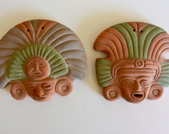 Small Terra Cotta Warrior Wall Hangings - Set of 2