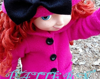 Winter Coat, Hat, and Mittens SEWING PATTERN fits Disney Animator Collection Doll, Doll Clothes Pattern, 16 Inch Doll, Animator Doll, Jacket