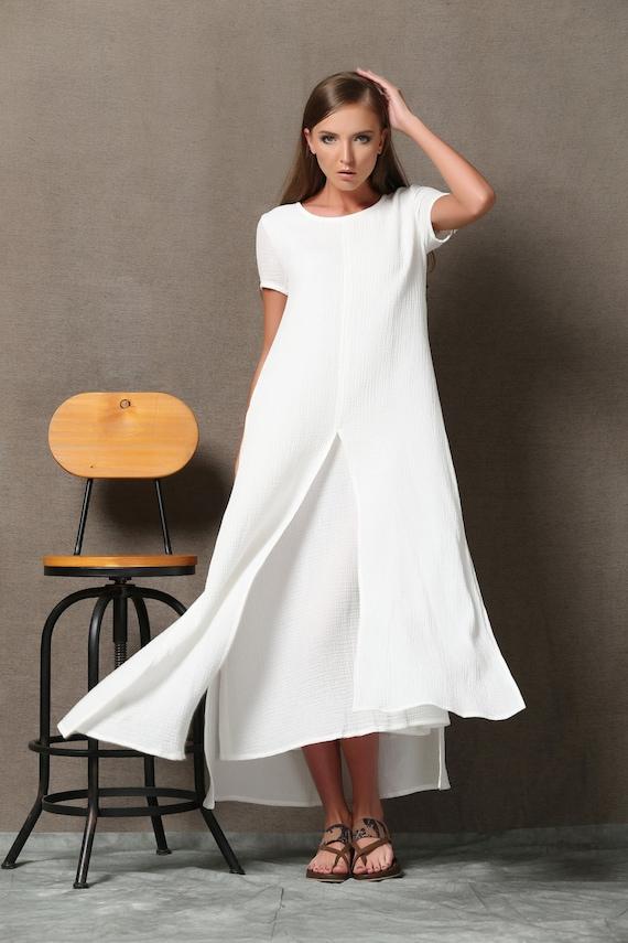 Linen Dress Plus Size Clothing Cotton Dress Plus Size