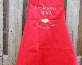 Baking apron, unisex personalized apron, men apron, women's apron, woman gift, chef apron, embroidered apron, custom apron, monogram apron