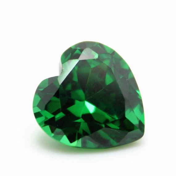 heart chatham created ct cultured quality gem emerald pin shaped