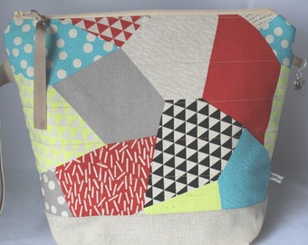 Reduced* Quilted Zipped Project Bag suitable for Knitting/Crochet/Craft