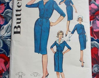 "1960s dress pattern / Butterick 9939 / 60s wiggle pencil dress / bust 37"" waist 31"""