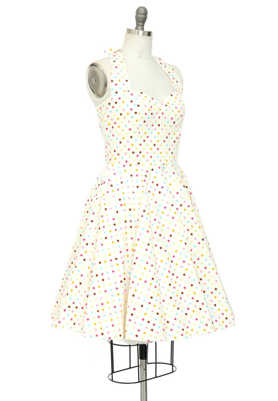 Polka Dot Kleid Multi Farbe Sonne Kleid Strand Kleid