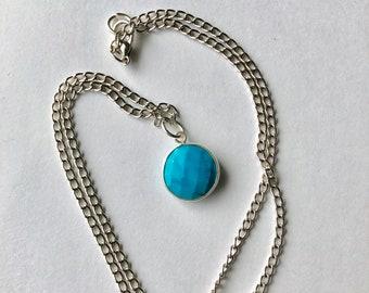 Turquoise Pendant, Minimal