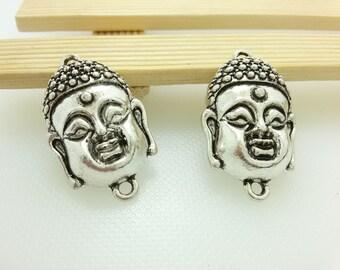 10pcs  Buddha connectors  , Buddha jewelry, yoga jewelry ,spiritual jewelry, meditation jewelry