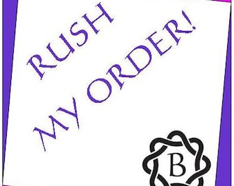 RUSH MY ORDER Upgrade for travel journal, traveler notebook,leather journal,  leather notebook, wedding guestbook, bucket list