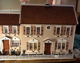 Beautifully built wooden doll house 1:12 scale LIANAS PLACE made to order