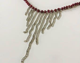 Ruby Fringe Necklace