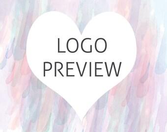 Logo Preview | Premade Logo Preview | Logo Sample | Preview Your Logo | Calligraphy Logo Preview | Try Before You Buy