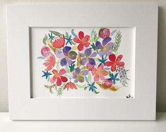Flowers Watercolor, Spring Painting, Original Watercolor, Floral, Watercolor, Original Artwork, Handmade Art