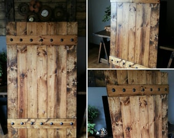 Rustic Barn Door Shutter - Extra Large Shutter Slider - Interior Barn Door - Rustic Barn Door - Rustic Shutter - Farmhouse Style - Wooden
