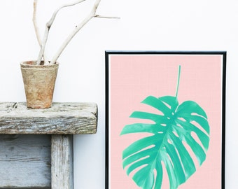 Palm Print, Palm Leaf, Printable Art, Palm leaf Art,  Scandinavian Art, Modern Art, Wall Decor, Wall Art, Digital Download
