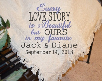 Personalized Wedding Afghans, Personalized Wedding Throws, Personalized Wedding Throw Blankets, Personalized Wedding Quilt Blankets