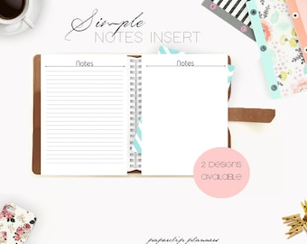 SALE - Notes Printable, Notes Insert, To Do List, Printable Notepaper, Desk Planner, Notepad, Printable Planner, Planner, A5 Planner Insert