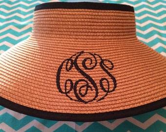 Ribbon Trim Sun Visor Hat