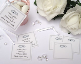Personalised Wedding Gift Tags - Silver - Pack of 10 tags
