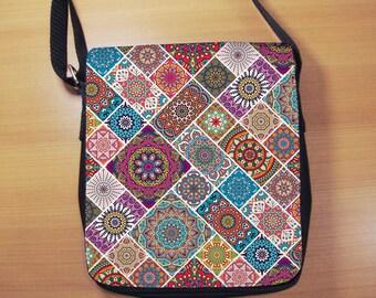 Mandala Small Shoulder Bag, Boho Hippie Bohemian, Small Crossbody Bag, Small CrossBody Purse, Cross Body Bag, Sling Bag, Small Purse, Bag
