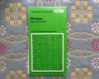 Vintage Map of Hirwaun, Wales. Ordnance Survey 1:25,000 Pathfinder Series 1976