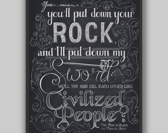 Civilized People - Print - Princess Bride Typography