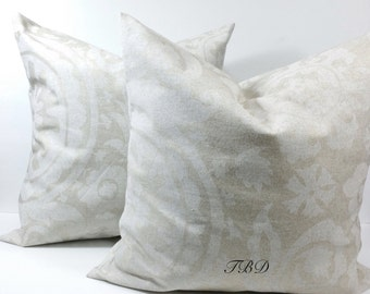 Oatmeal and beige.Pillow covers.Cushion covers.Throw pillow covers.Sham covers.Set of two pillow cover.Suzani blend.Oatmeal.Choose a size.
