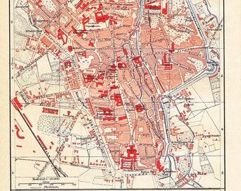 Augsburg map Etsy