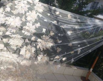 Two Color Floral Sweet VEIL - NEW Design