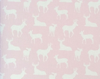 Deer Silhouette Bella Pink Premier Prints Fabric Home Decorating Fabric By The Yard Cotton Twill