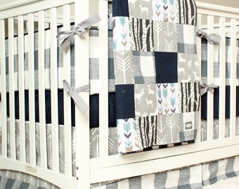 p monogram bedding stripe linen collection navy indigo nursery with in baby boy washed crib full bed set