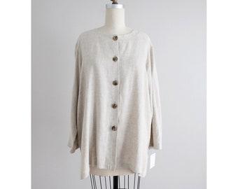 beige swing tunic | linen blouse | Ruth Norman