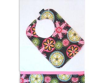 Carnival Bloom Bib and Burp Cloth Set