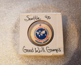 Vintage 1990 Seattle Goodwill Games Lapel Pin