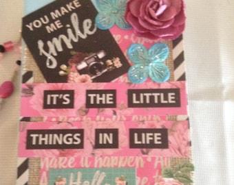 Junk Journal, Notebook, writing book, smile Journal, trendy journal