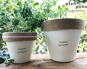 """6"""" Oregano Gangster » Plant Indoor and Outdoor Pot or Planter"""