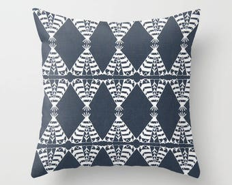 Teepee Pillow cover Tribal Pillow Cover Decorative Pillow Cover RV Pillow Hunting Pillow