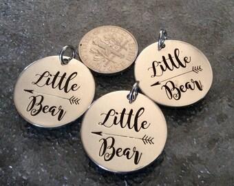"3 - ""Little Bear"" Pendant, New Series, Silver plated necklace, Boho Jewelry, Little Bear pendant, kid Bear Necklace, Child Bear Charm"