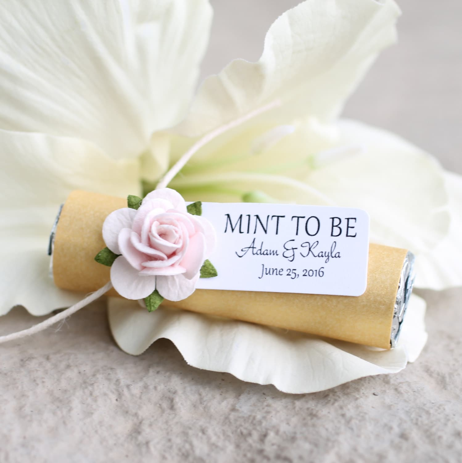 Engagement party favors Set of 24 mint rolls w/ personalized